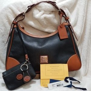 DOONEY & BOURKE HARRISON HOBO BLACK & BROWN
